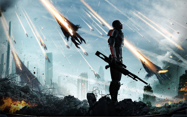 Super Dramatic Mass Effect Shot