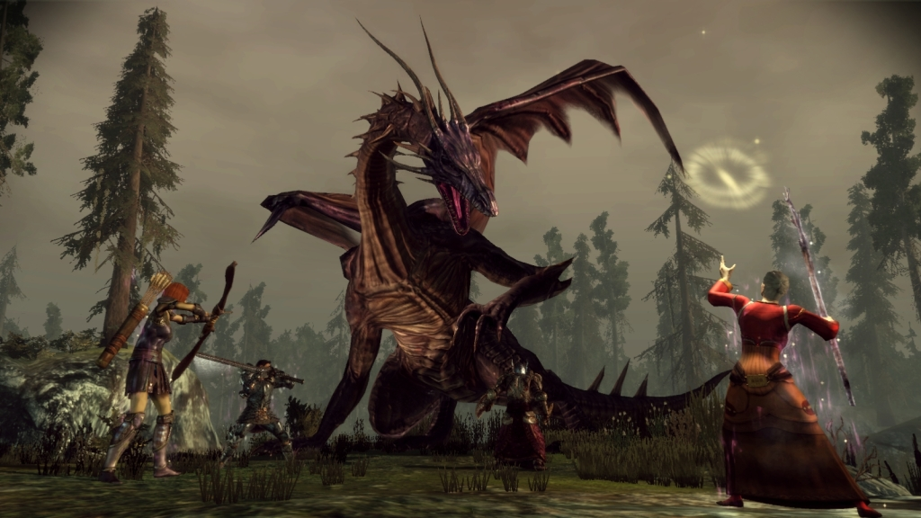 In Dragon Age: Origins, dragons take a lot of strategy to beat.