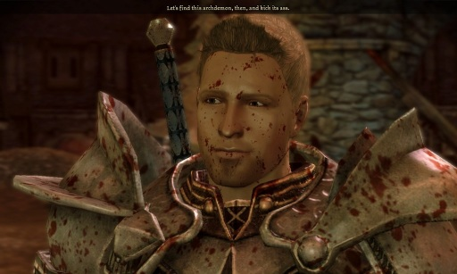 """Let's find this archdemon, then, and kick its ass."" I mean, what's not to like about Alistair?"