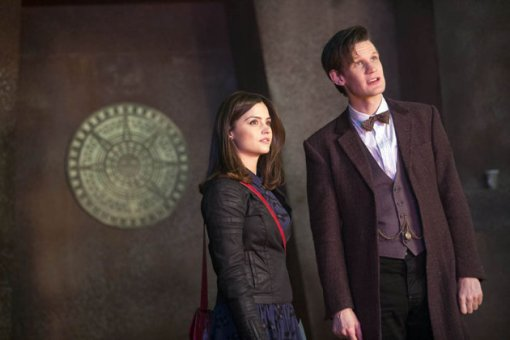 Clara, the Doctor... and the Doctor's new outfit!