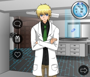 Landon in ze lab.