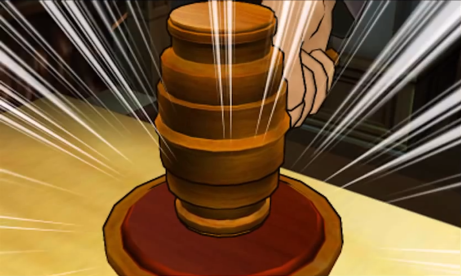 gavel of justice!