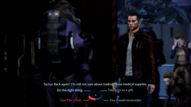Mass Effect's dialogue wheel
