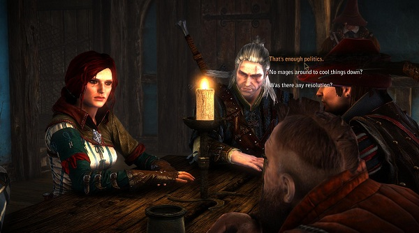 A conversation in The Witcher 2.
