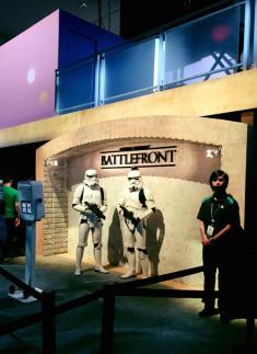 The Star Wars Battlefront demo area