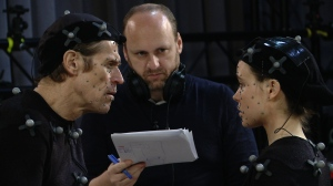 Willem Dafoe and Ellen Page motion capture for