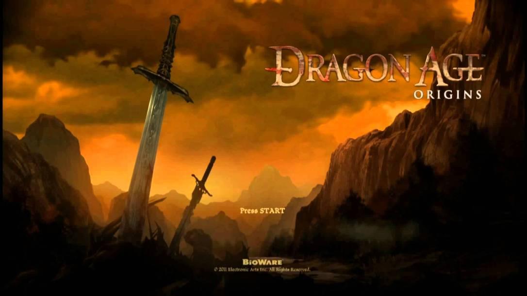 dragon age origins start screen