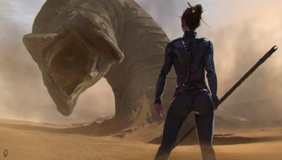 Dune_Concept_Art_Illustration_01_Mark_Kent_sandworm