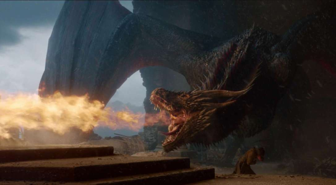 Drogon melts throne.jpg