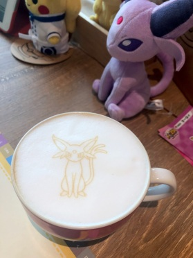 Pokemon Cafe - Espeon latte art