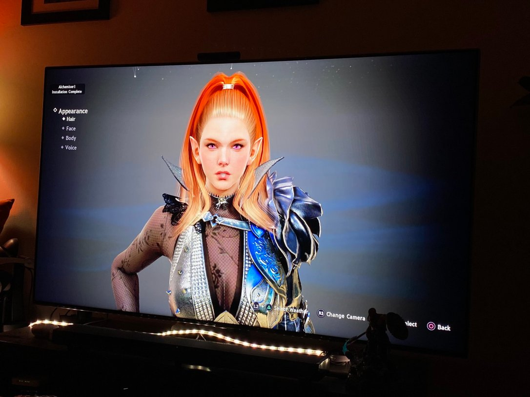 Black Desert Online character creation living room photo